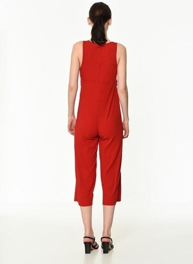 Dewberry Polyesterli Kadın Tulum Kırmızı